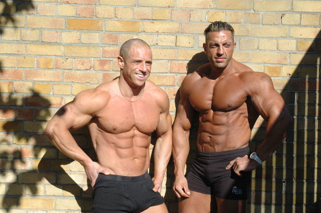 Mr Cyprus Zak Pallikaros and IFBB Champ Mark Cameron