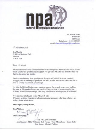 NPA Letter