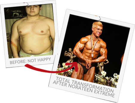 Norateen Extreme before and after
