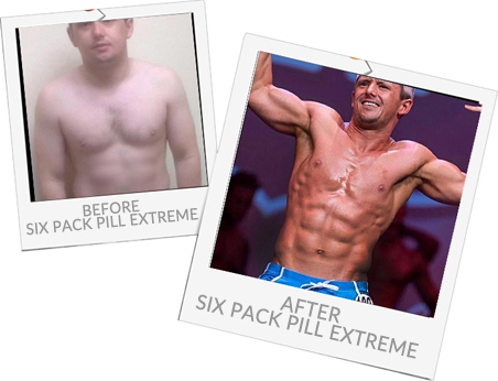 Sam before and after Six Pack Pill Extreme