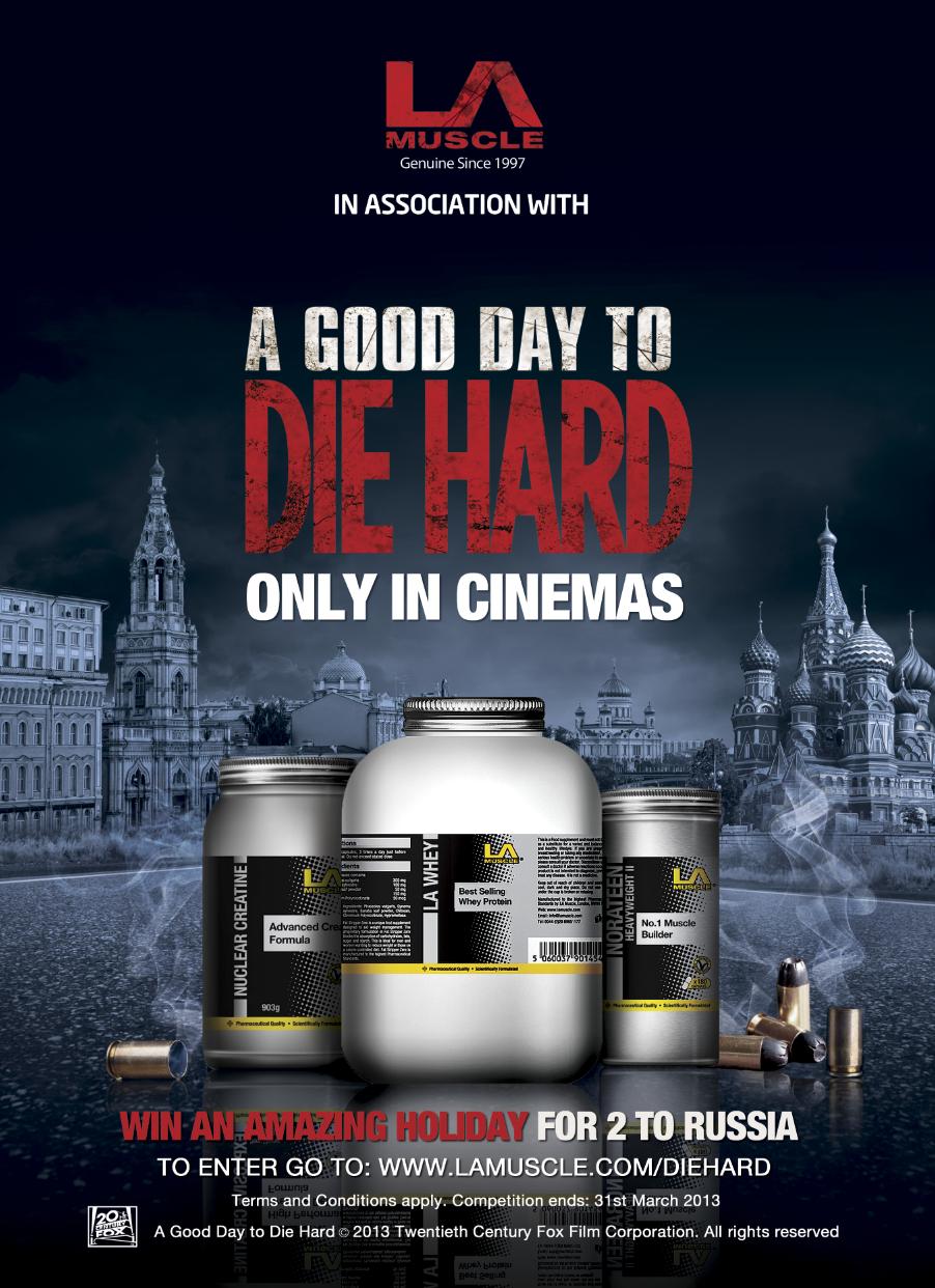 LA Muscle Official Partners of Die Hard Movie