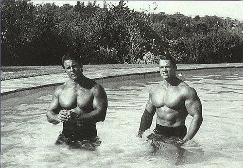 Arnold Schwarzenegger,Reg Park, classic bodybuilders