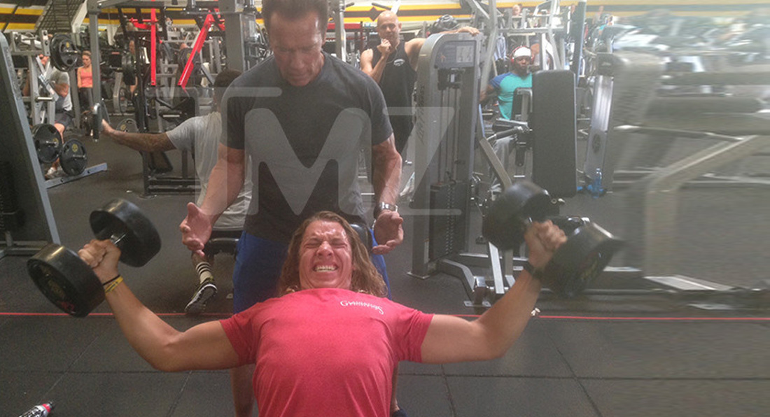Arnold trains ARNOLD??!!