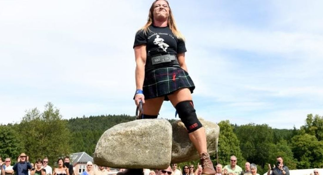 Aussie Nurse Lifts Scotland's Legendary Dinnie Stones