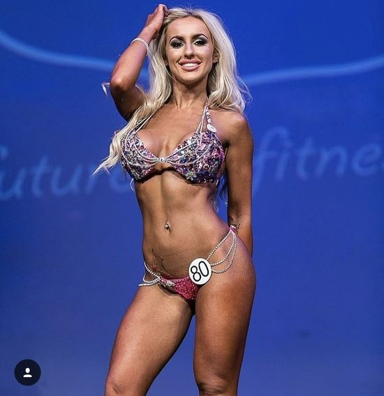 Fitness competitor Becca Bannister