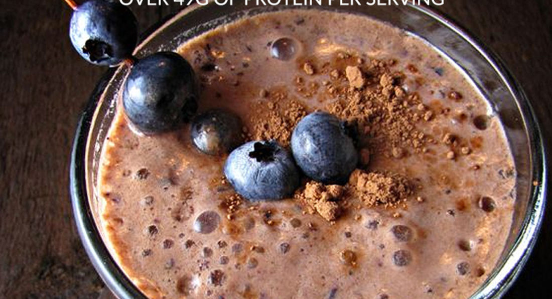 Mouthwatering Chocolate, Banana and Blueberry Post Workout Smoothie