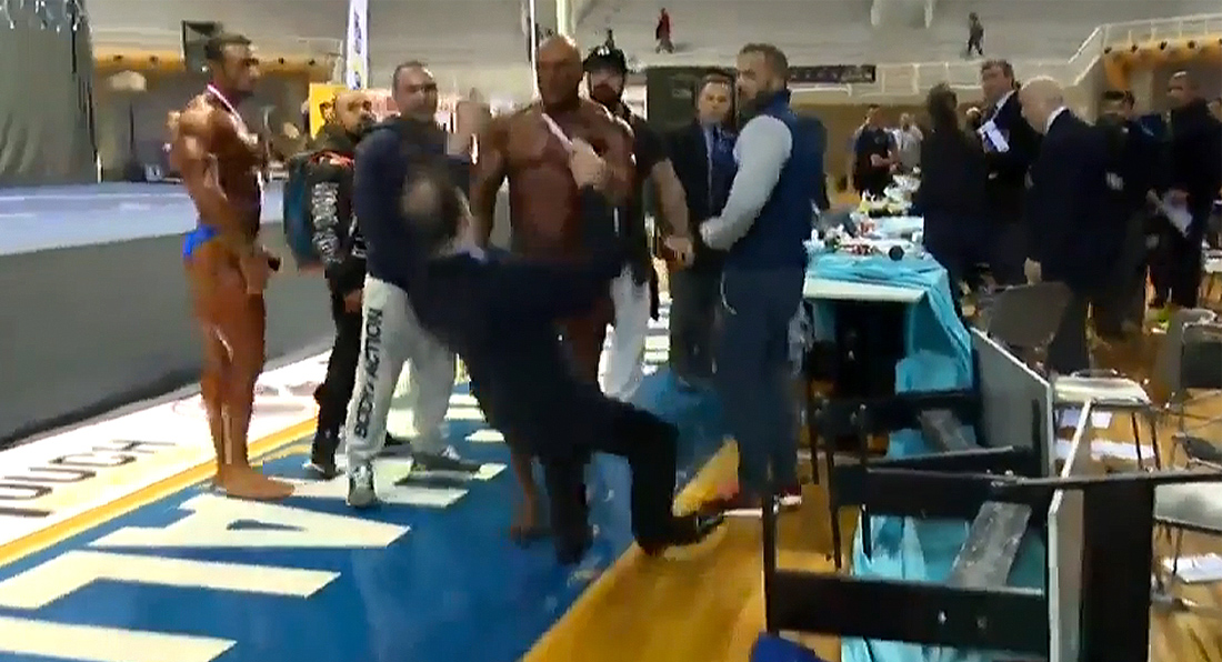 SHOCKING: Bodybuilder hits IFBB Judge