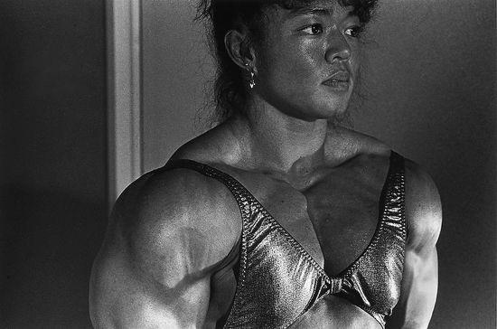 Strong Asian woman