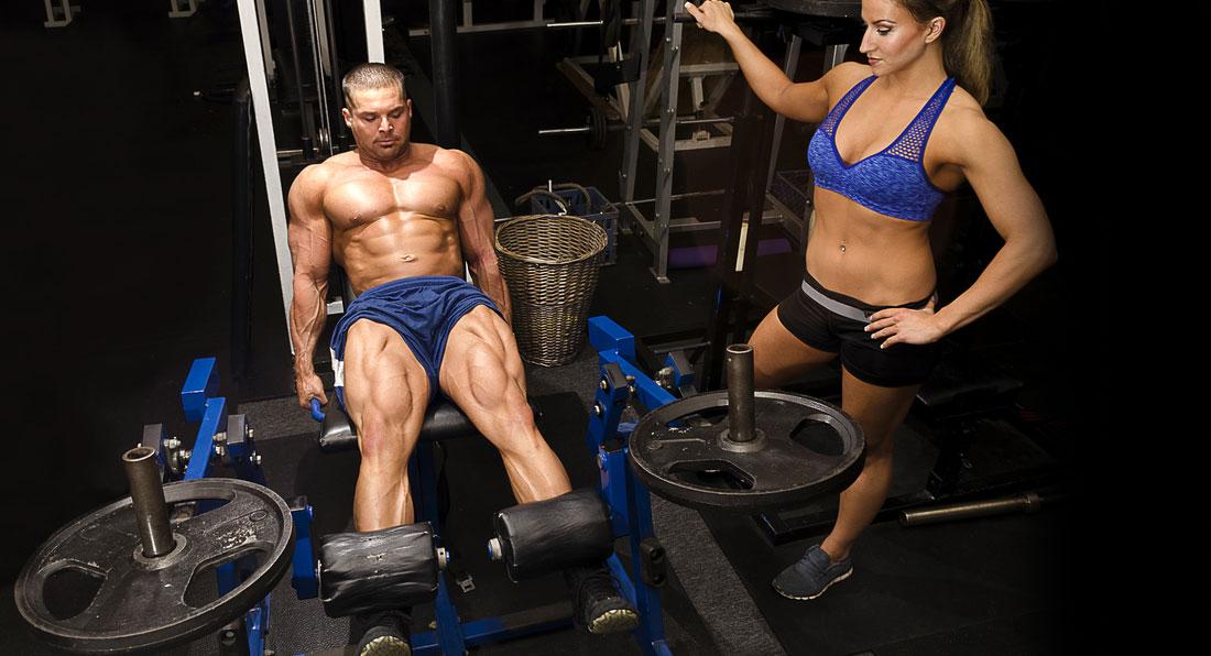 Photographic illustrations of bodybuilding exercises