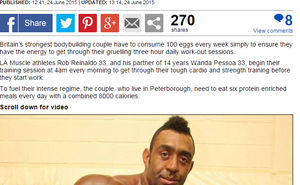 LA Muscle Ambassador Rob Reinaldo featured in the Daily Mail.