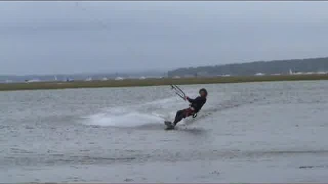 Kite Surfing with Dan James Junior British Champion
