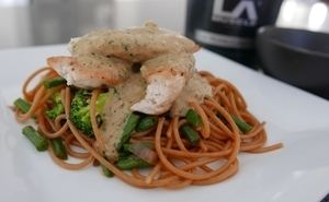 Cheat Day Satay Chicken and Spaghetti