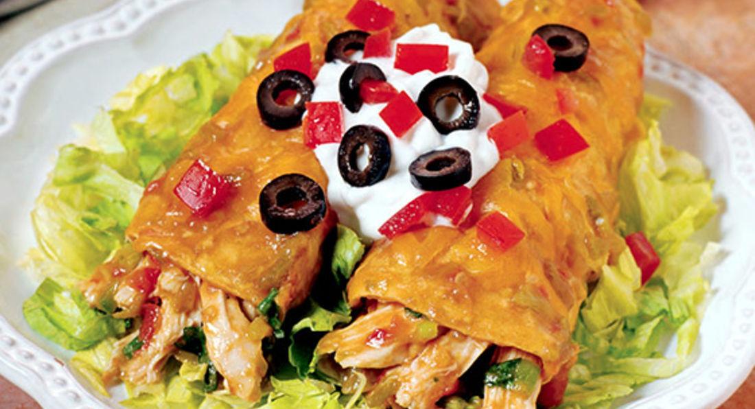 High protein and low fat chicken enchiladas