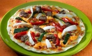 Steak and Veggie Pizza