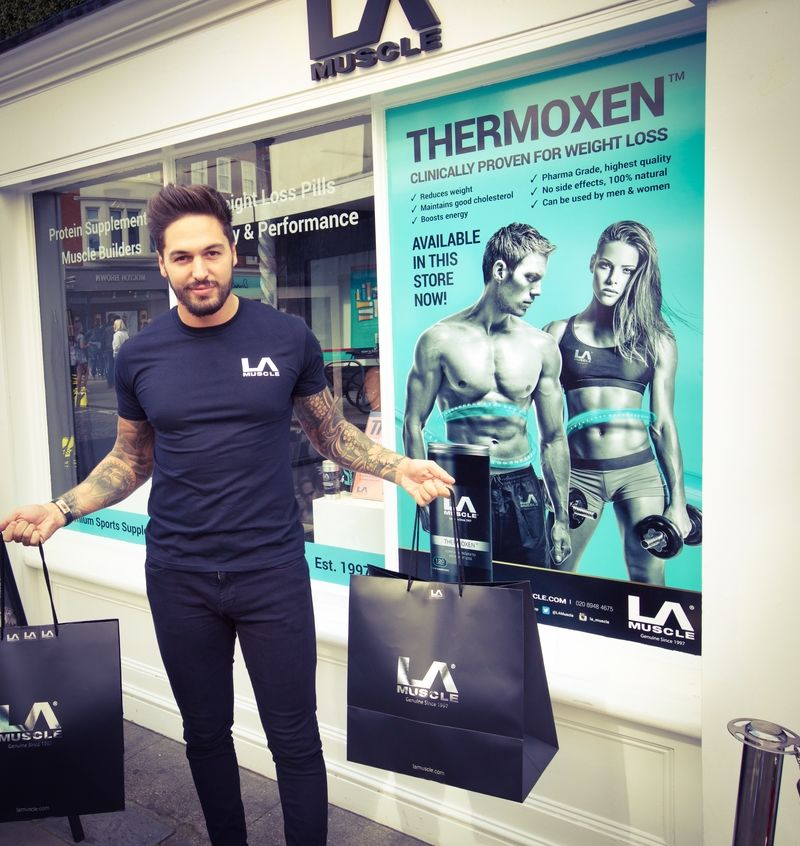 Mario with his LA Muscle Shopping