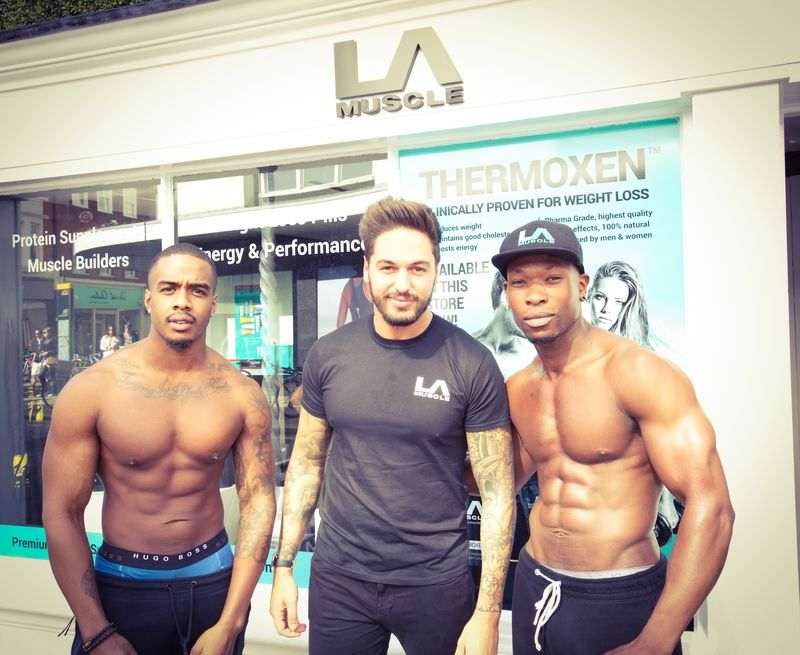 Mario with the LA Muscle Boys