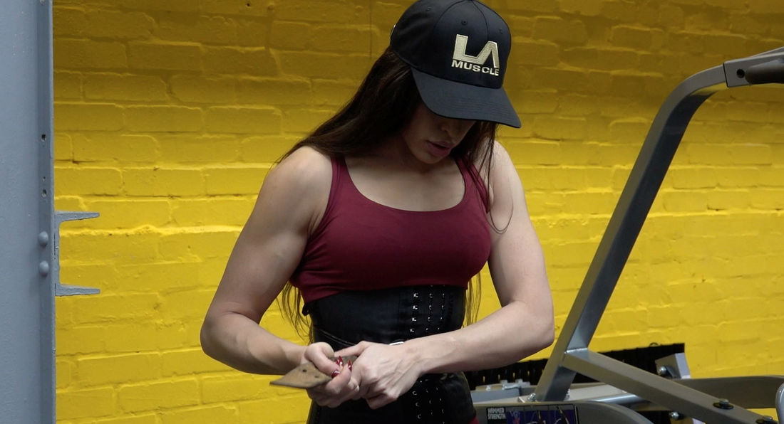 Training With Hot Latina Golden Panther