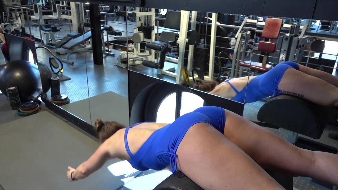 BNBF Competitor Joanna trains BACK