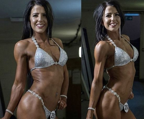 Fitness competitor Kirsty Wall
