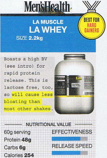 LA Whey Protein, voted Best for Hard Gainers