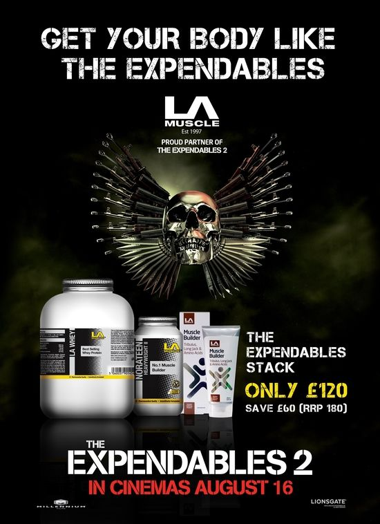 LA Muscle Official Partners of The Expendables Movie