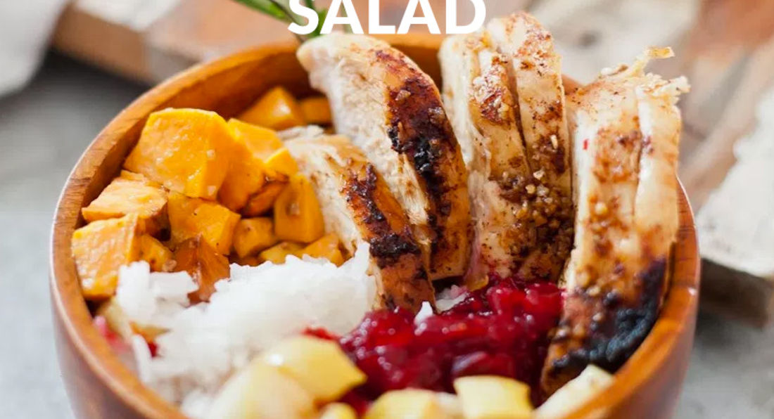 Health Enriched, Chicken, Apple, and Sweet Potato Salad