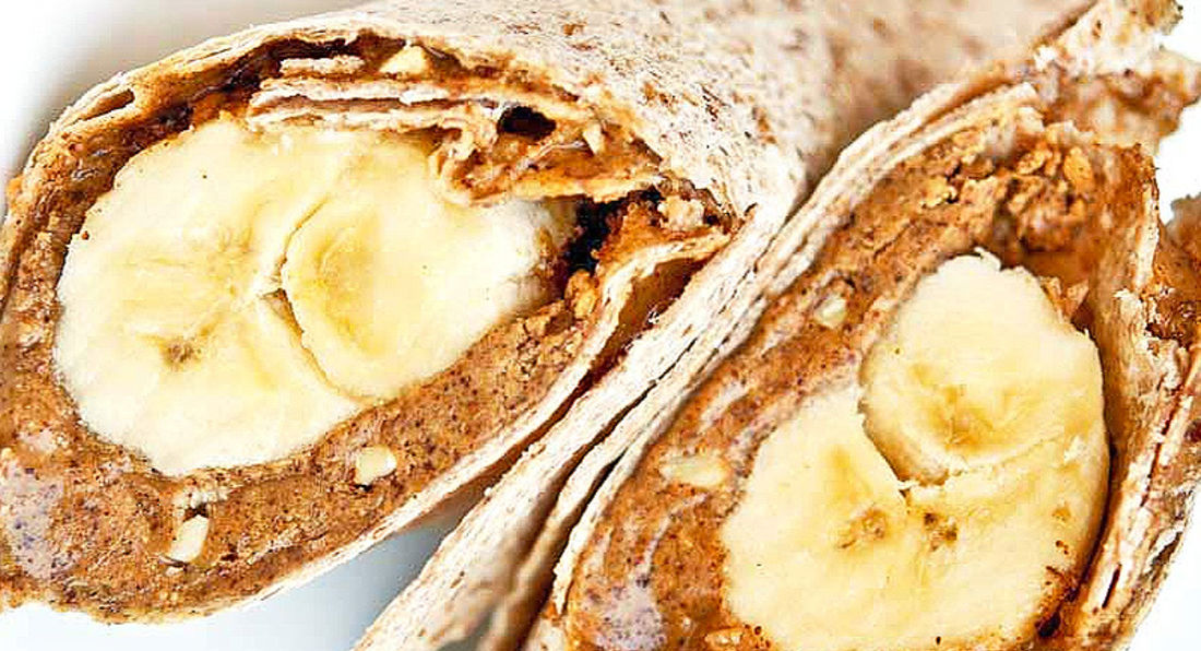 Peanut Butter and Banana Protein Power Wraps.