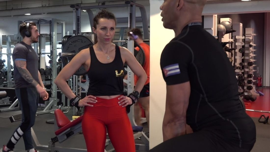 Fitness Athlete Trains Full Body with Mr RIPPED LAZARO