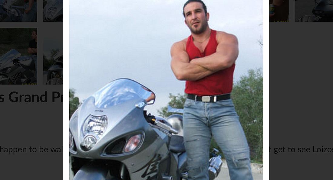 Loizos and his super-bike
