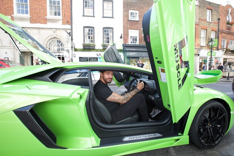 Mario with one of the LA Muscle Lamborghinis