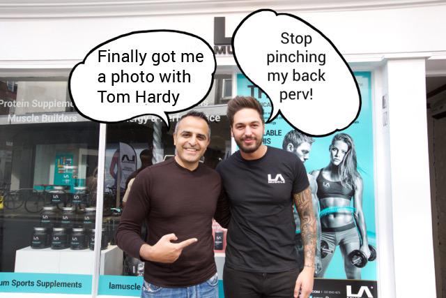 Mario Falcone, TOWIE at the LA Muscle Shop Richmond