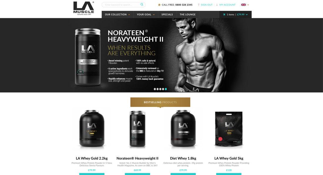 LA Muscle launches sleek new website