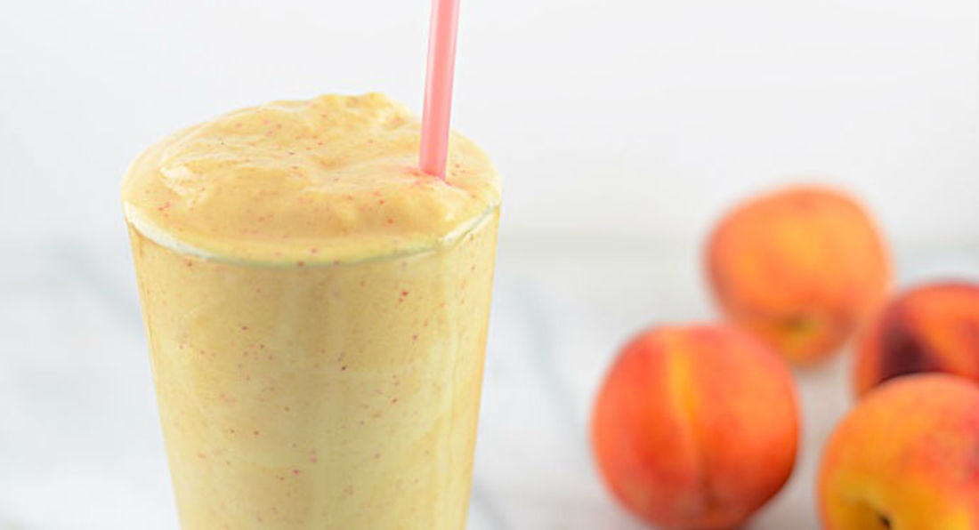 Peaches & Cream Protein Smoothie