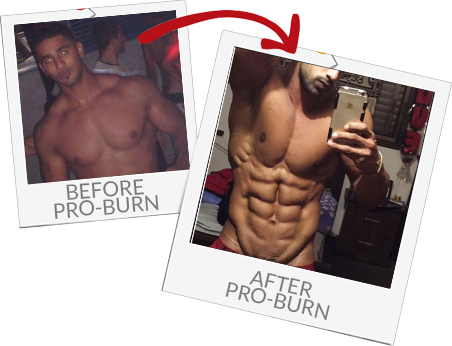 Before and after Fat Stripper Pro Burn