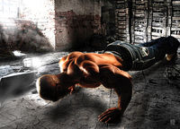 Push ups for chest development when on holiday