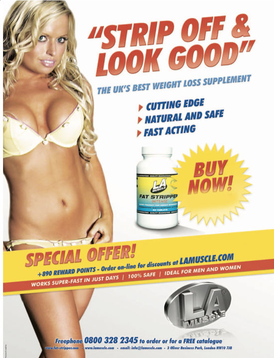 Fat Stripper Advert as seen in many magazines
