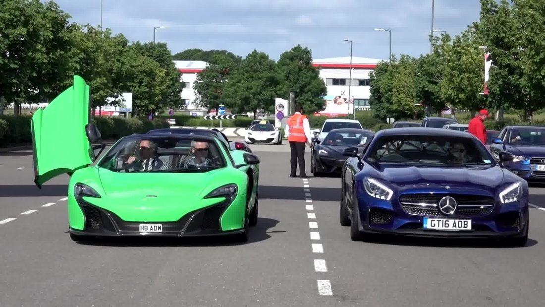 INCREDIBLE supercars at Silverstone Sunday inc. Enzo, Zagato, Muira