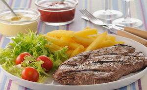 Low Fat & Muscle Building Steak and Chips