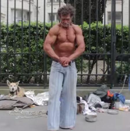 Jacques Sayagh, homeless bodybuilder