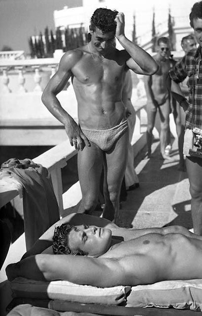 Steve Reeves, classic muscle beach, venice beach bodybuilding photo