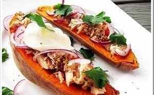 Sweet Potato with Tuna