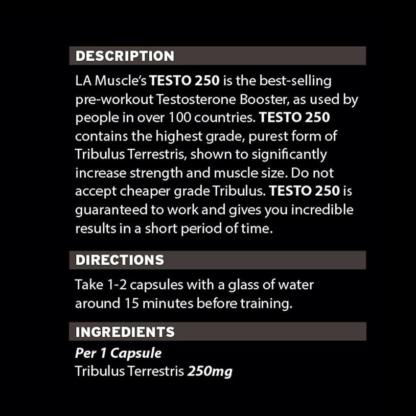 Testo 250 Male Hormone Muscle Builder by LA Muscle