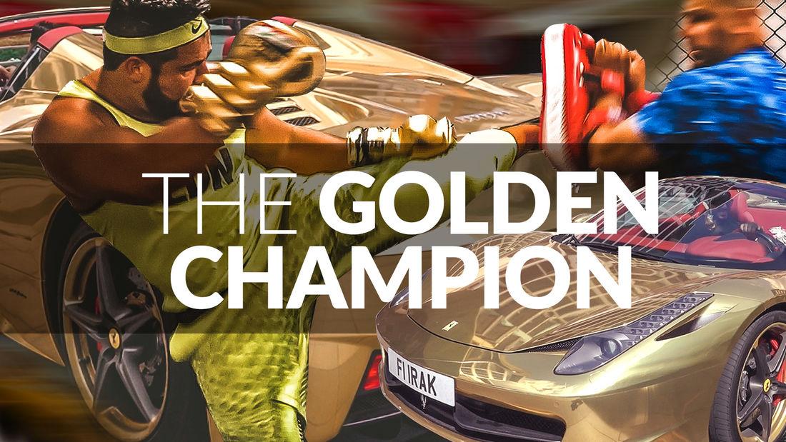 The Golden Champion: SECRET TRAINING! Riyadh Al-Azzawi World Kickboxing Champion