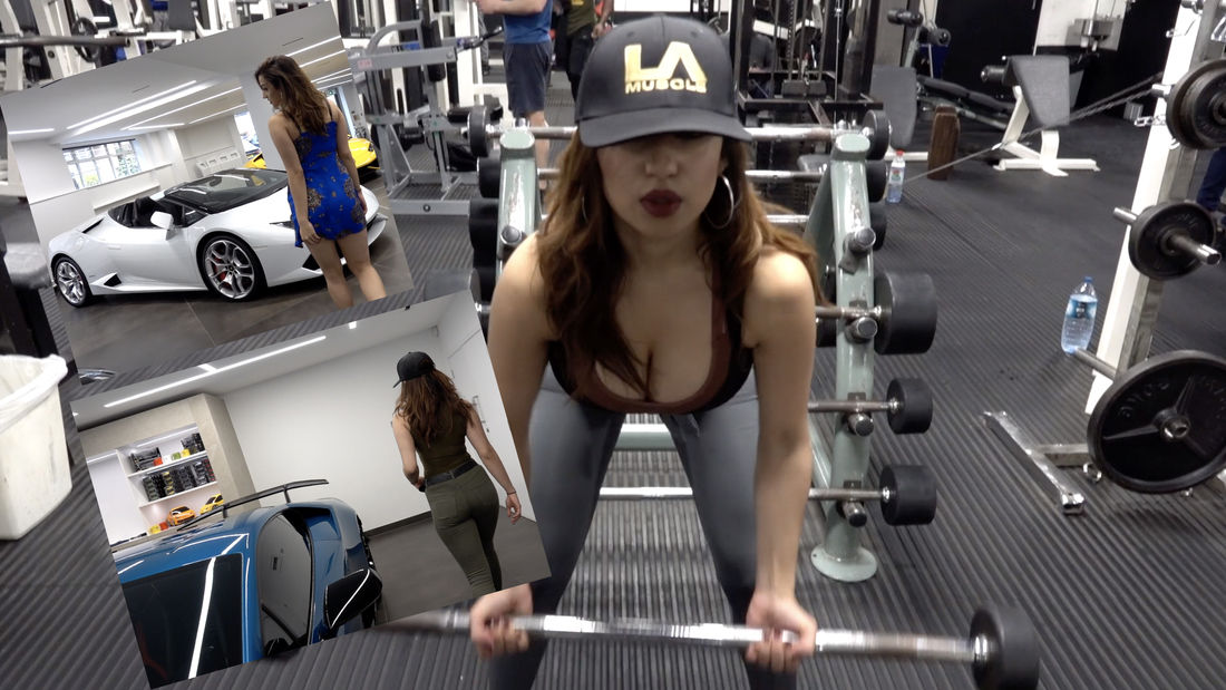 OMG HOT HOT! Model Tahlia Coutinho visits Lamborghini & then gets a Workout in!