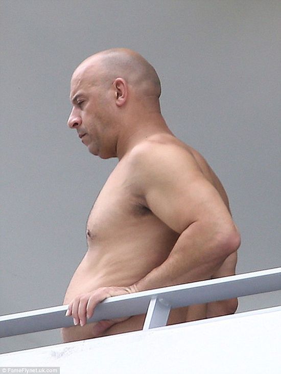 Vin Diesel photos and pictures as you have never seen him, could this be Vin Diesel? Looking fat?