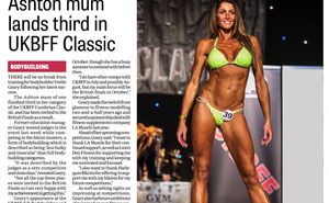 LA Muscle athlete Yvette Geary featured in Wigan Evening Post